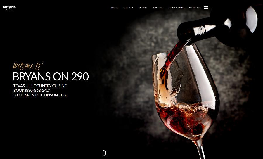 Bryan's on 290 Website