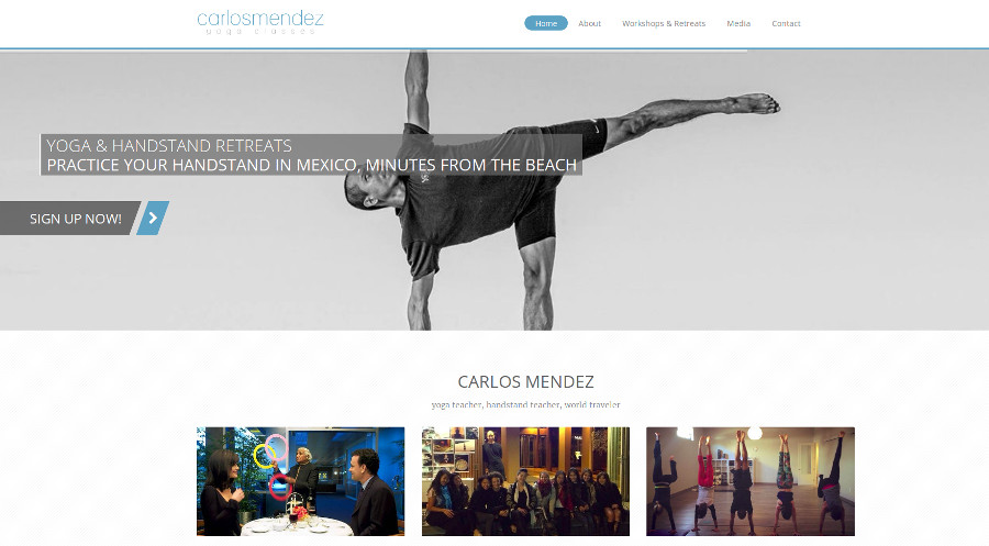 Carlos Mendez Yoga Website