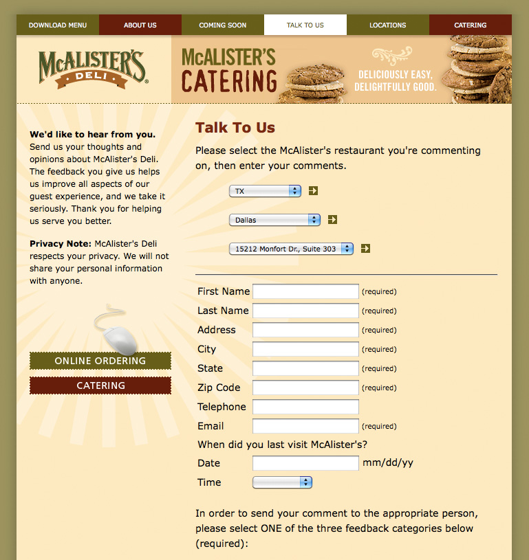 This is a picture of Exhilarating Mcalister's Printable Menu