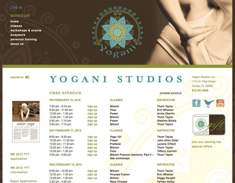 Yogani Schedule